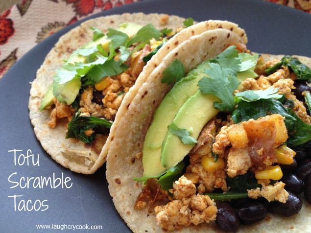 Tofu_Scramble tacos | Vegan Recipes | Pinterest