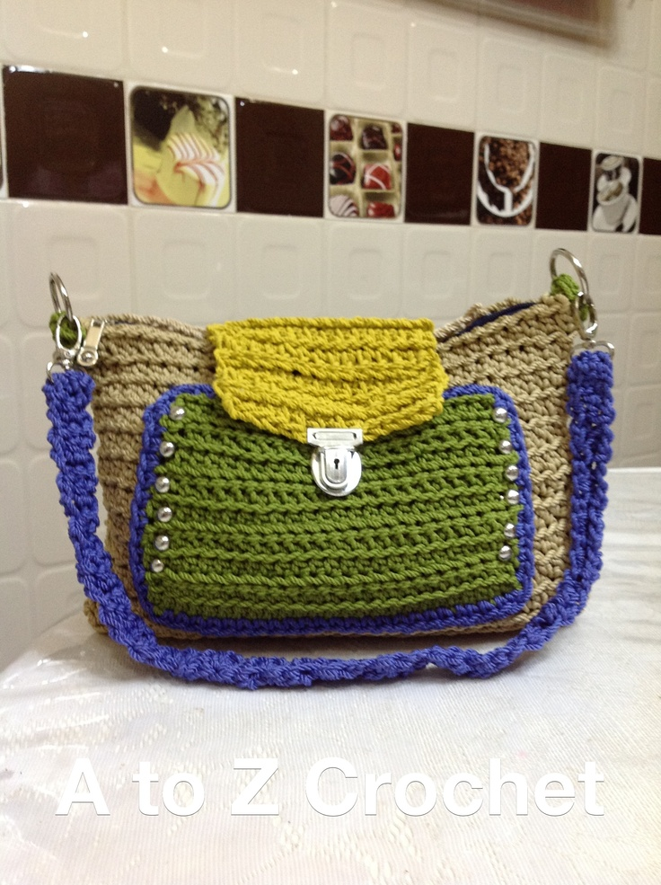 Crochet Work Bags : Crochet bag .. My design and work .. A To Z Crochet Pinterest