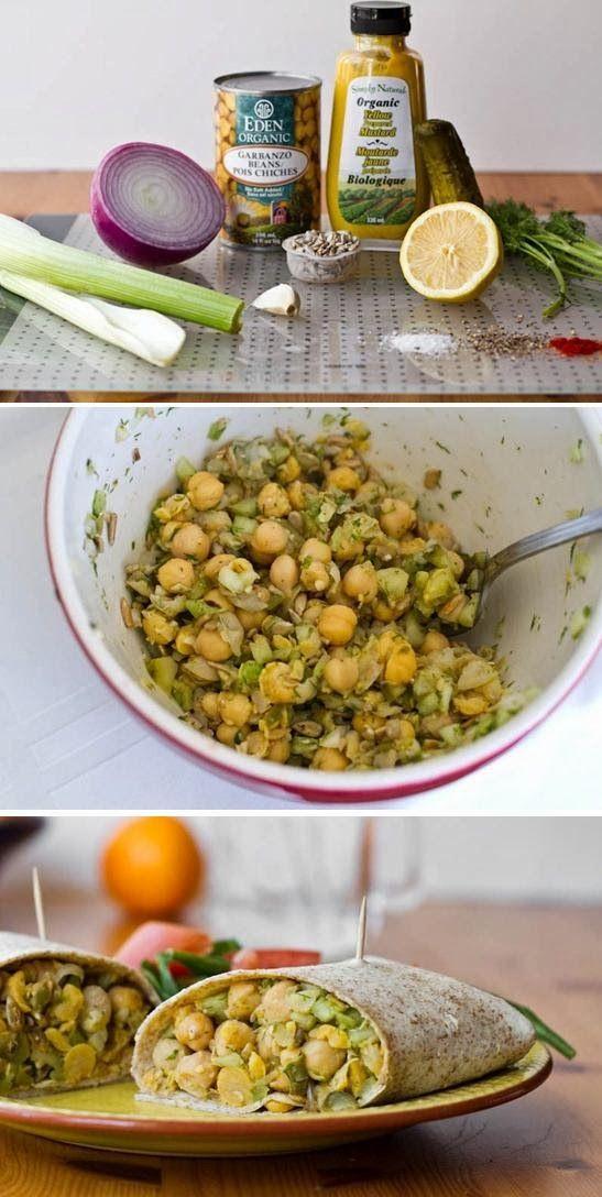 Exclusive Foods: How to cook Chickpea Salad Wraps