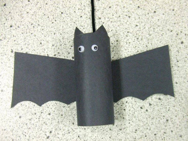 bat decorations out of TP rolls