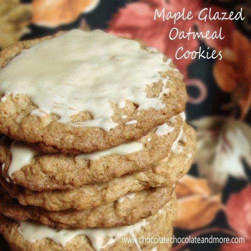 MAPLE GLAZED OATMEAL COOKIES | My Fav Foods | Pinterest