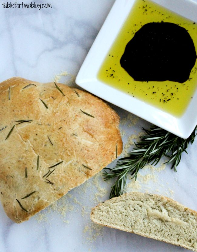 Rosemary Olive Oil Bread » Table for Two