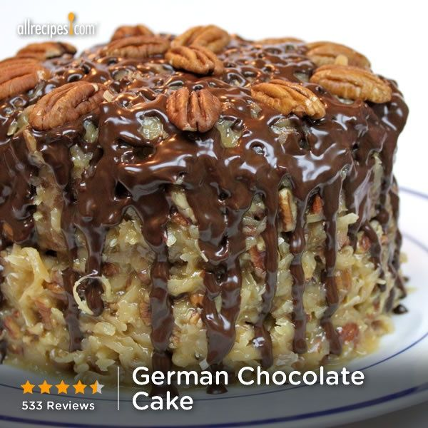 German Chocolate Cake- This one is actually pretty, they always taste ...