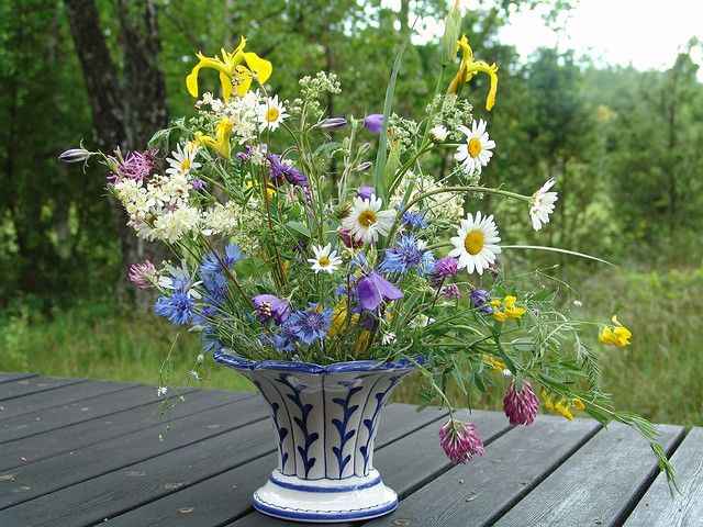 Wildflowers In Vase Wedding Ideas Pinterest