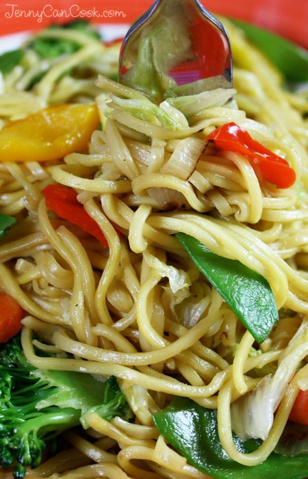 Vegetable Lo Mein recipe from Jenny Jones (JennyCanCook.com) - Quick ...