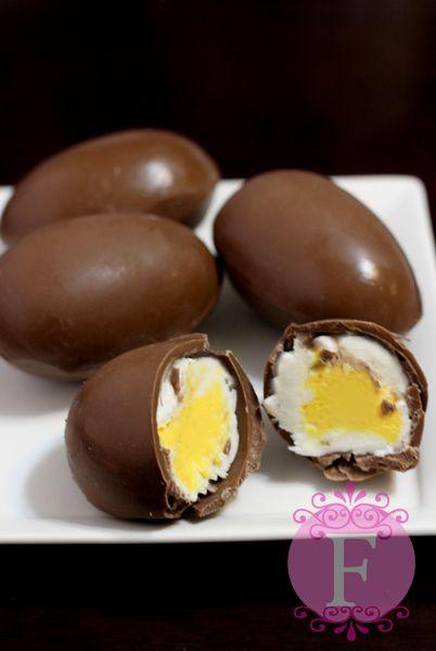 Homemade Cadbury Cream Eggs - FernandaAbarca