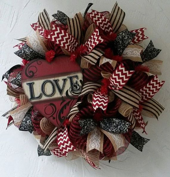 Vintage Love Valentine Heart Front Door by DivineDesigns2014