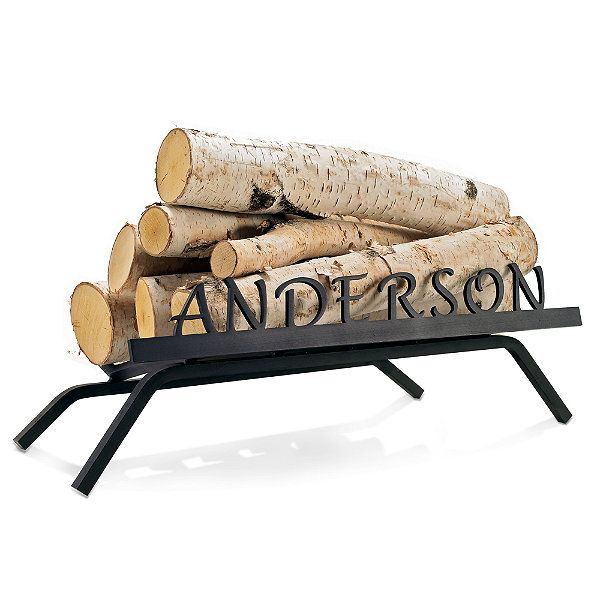 Personalized Fireplace Grate - Contemporary - Fireplace Grates