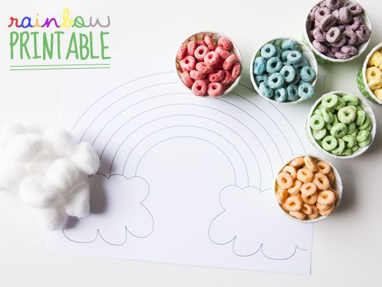FREE Rainbow printable! Fun St. Patrick's day craft for kids!