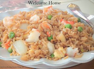 Welcome Home:  Shrimp Fried Rice