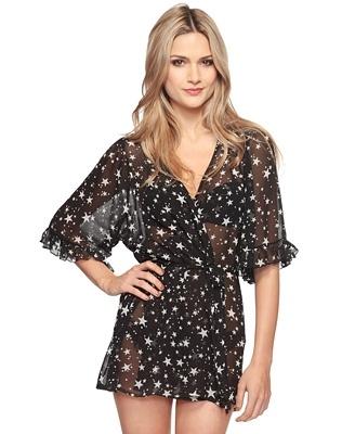 Starry Night Self-Tie Robe - StyleSays