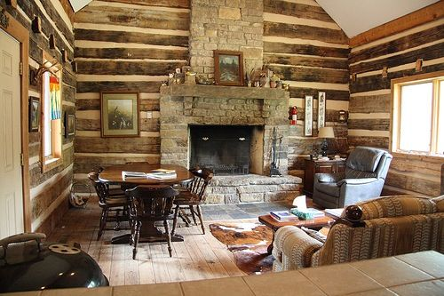 Log cabin fireplace log cabin rustic ideas pinterest for Log home fireplace pictures