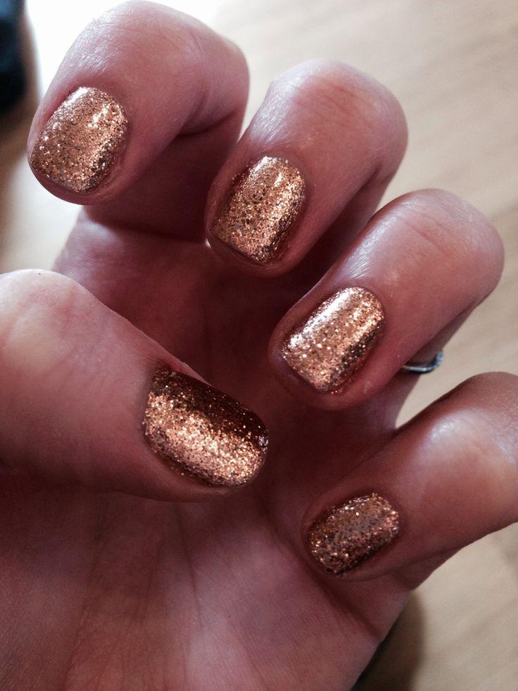 Gold glitter shellac   nail arrt   Pinterest