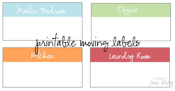 free printable moving box labels organization pinterest
