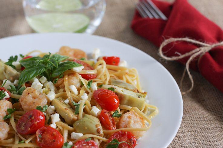 Shrimp, Artichoke & Feta Pasta | Recipe