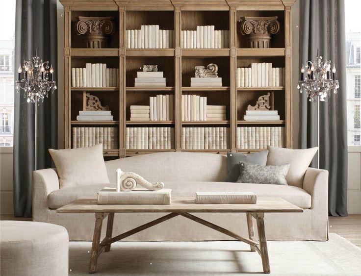 restoration hardware living room pinterest