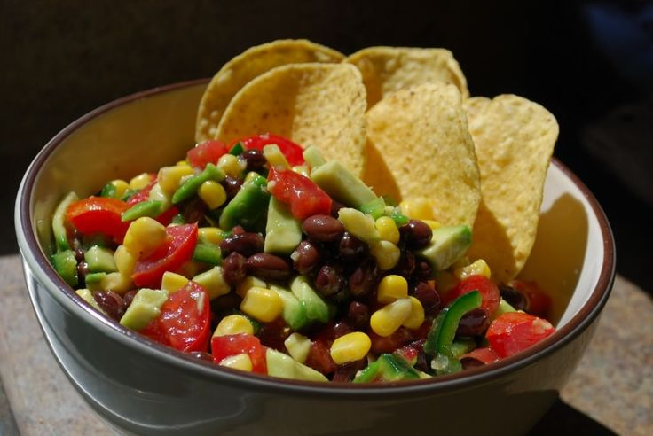 COWBOY CAVIAR 1 can black beans, drained and rinsed 1 can corn, rinsed ...