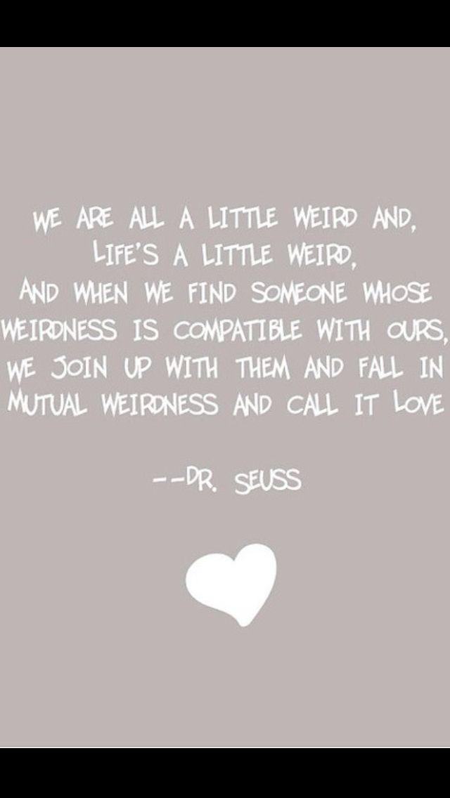 Mutual Weirdness = Love