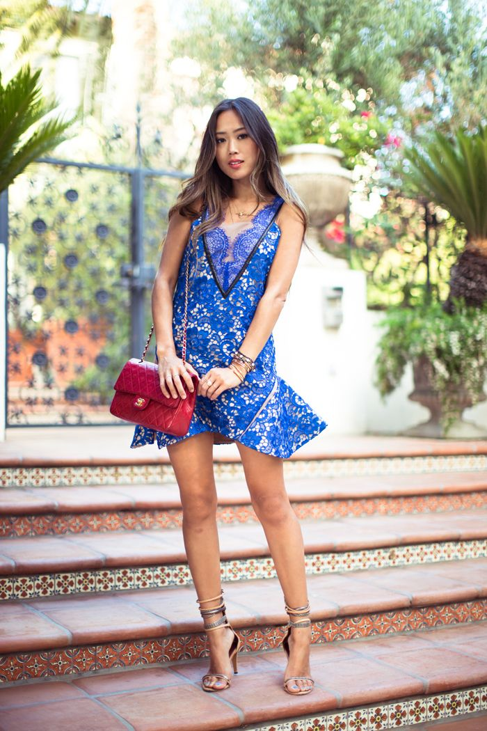 SongofStyle-BlueLaceDress-Chanel