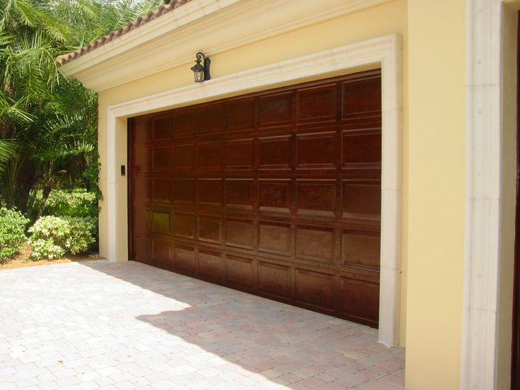 Faux wood garage doors decor pinterest Faux wood garage door paint