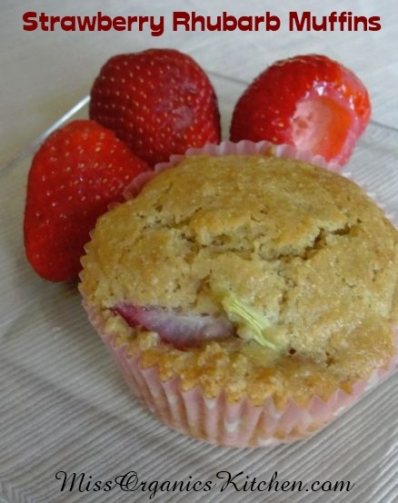 Strawberry Rhubarb Muffins. Know that I didn't lick the screen.....I ...
