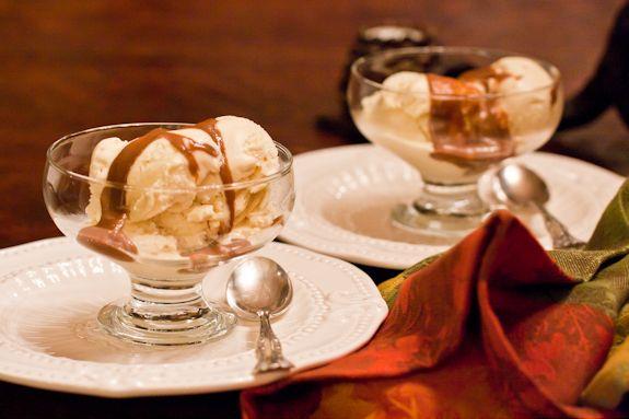 Apple Tart with Caramel Sauce & Double Vanilla Bourbon Ice Cream | Re ...