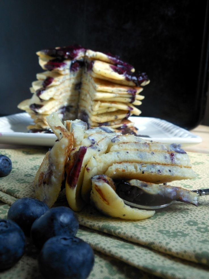 Lemon Blueberry Poppy Seed Pancakes   Recipe