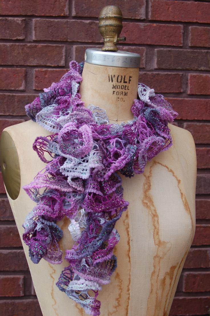 Crochet ruffle scarf. OohLaLa! The Studio Pinterest
