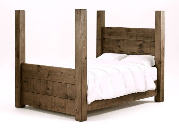 Wooden four poster bed for the home pinterest for Wooden four poster bed