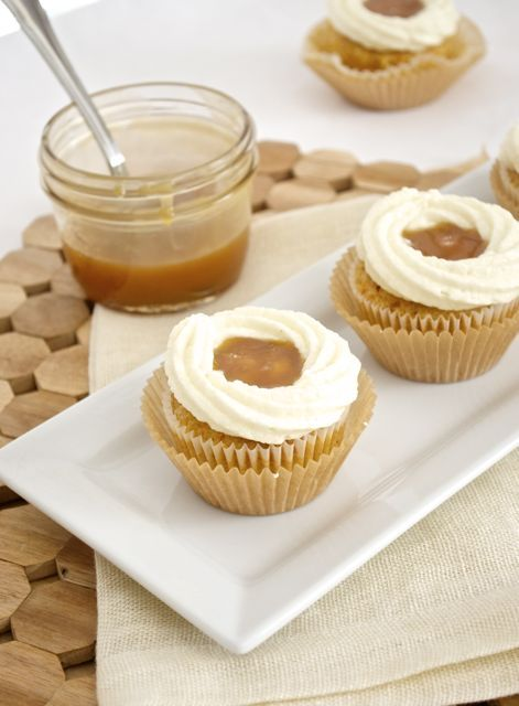 Salted Caramel Carrot Cupcakes with Vanilla Bean Mascarpone Frosting