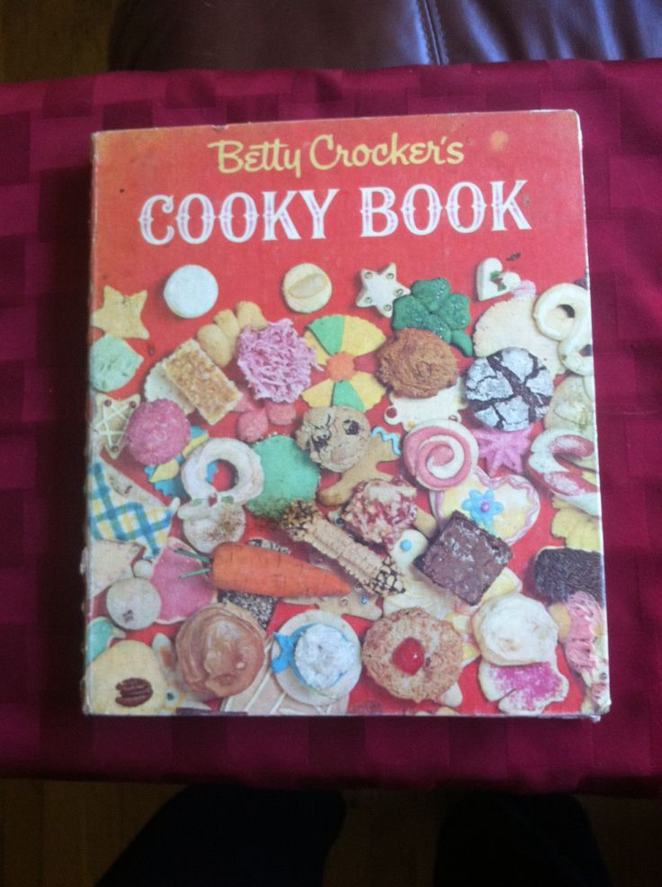 Betty Crocker's Cooky Book produced the most beloved recipes of the Boomer generation. Ours hast sticky pink icing on bottom right cover. c 1963.