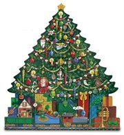 ... Christmas Tree and Train Wooden Holiday Religious Advent Calendar