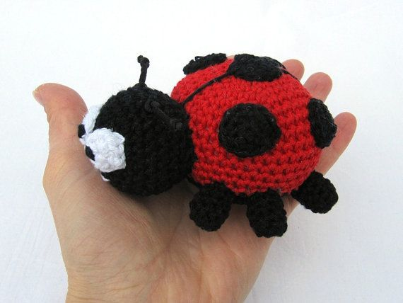 Amigurumi Beetle : Small Ladybug and Rainbow Beetle - Amigurumi Crochet ...