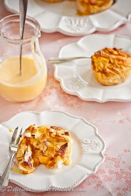Mini Bourbon Peach Pies with Vanilla Bourbon Custard | Recipe