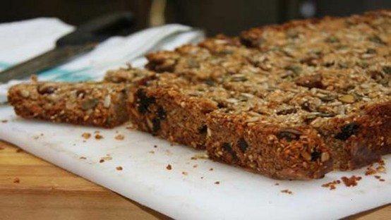 honey and peanut butter breakfast bars | bakers board | Pinterest