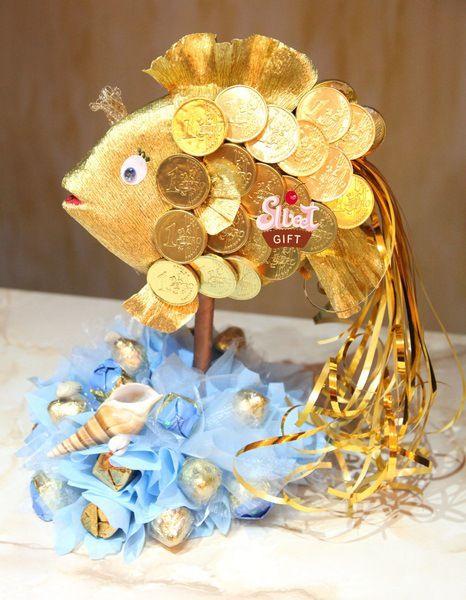 золотая рыбка из конфет своими руками мастер класс фото - Фотосессия