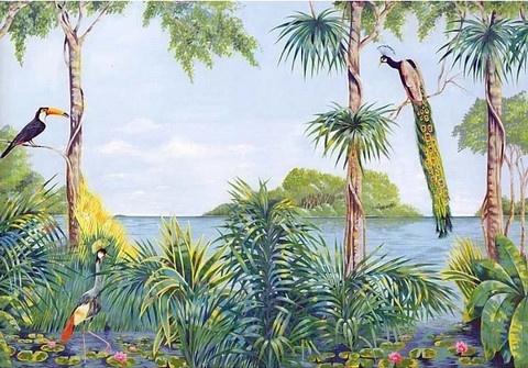 Blue Lagoon - Wall Mural | Tropical Wall Murals | Pinterest