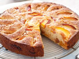 Summer Peach Cake (add panko and peach schnapps for better texture and ...