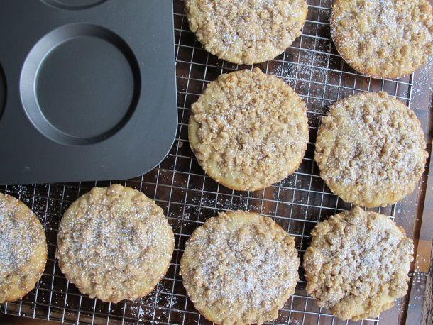 crumb cake muffin tops   Muffins   Pinterest