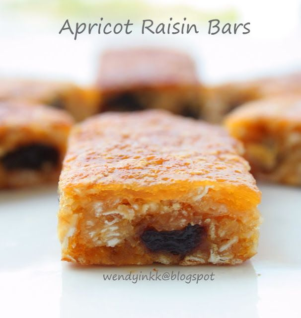 Table for 2.... or more: Apricot and Raisin Bars - Bars Week #1