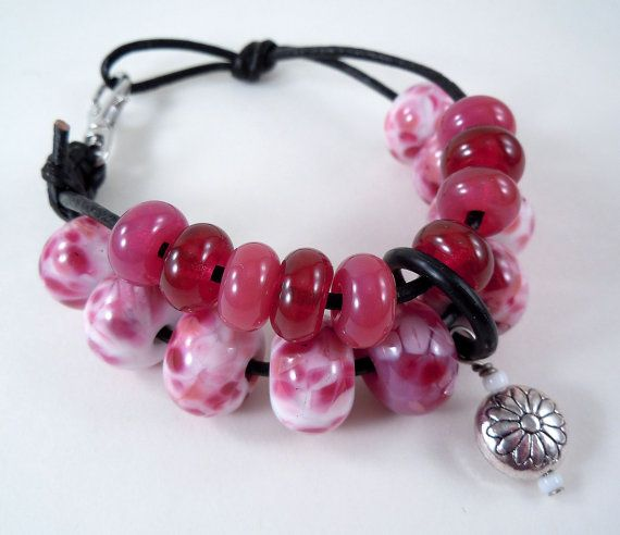 Knitting or Crochet Row Counter Bracelet Lampwork by tanyamcguire, $45 ...