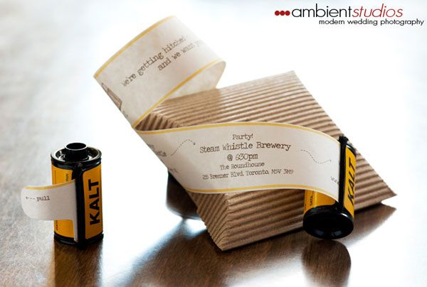 film caster wedding invitations