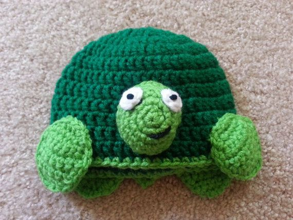 Crochet Pattern For A Turtle Hat : Crochet Turtle Hat
