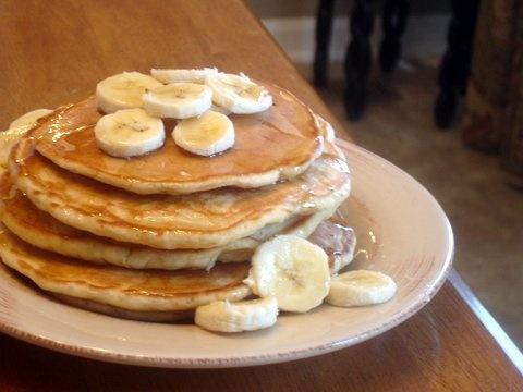 banana buttermilk pancakes | oh sugar, sugar | Pinterest
