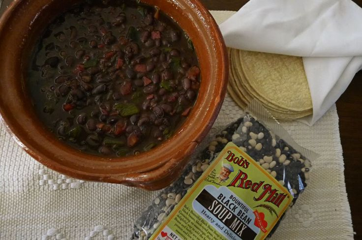 Poblano-Bacon Bountiful Black Bean Soup | Healthier Eats | Pinterest