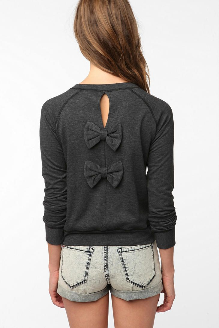 Whisper by MMC Bow Back Pullover - Urban Outfitters