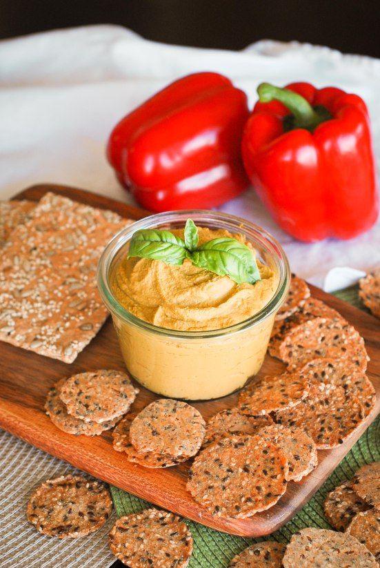 Roasted Red Pepper Hummus   Yummy Vegan Food   Pinterest