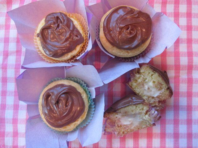 "New Yawk Cream Pie Cupcakes"" - Using yellow butter box cake mix ..."