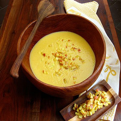 golden cauliflower soup | Holiday Recipes | Pinterest
