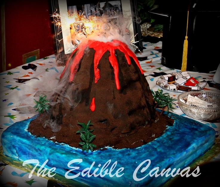 how to make a volcano cake erupt